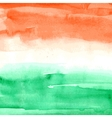 Indian Flag Watercolor texture vector image