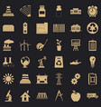 Industrial company icons set simple style