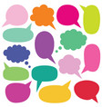 isolated speech and thought bubbles set vector image