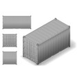 isometric cargo container vector image