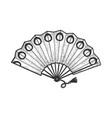japanese hand fan sketch vector image vector image