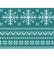 knitted endless pattern in a snowflake on a vector image