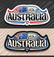 logo for australia vector image