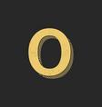 logo letter o gold vintage vector image vector image