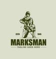 marksman vintage symbol vector image