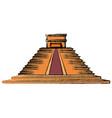 mayan pyramid monument vector image
