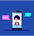 mobile video call vector image