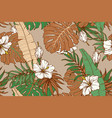 modern exotic seamless pattern tropical green vector image vector image
