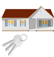 Modern house and keys vector image vector image