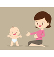 mother with baby toddler standing vector image vector image