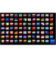 national flags icons vector image vector image