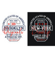 new york brooklyn typography design athletic vector image vector image