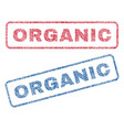organic textile stamps vector image vector image