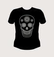 ornamental skull t-shirt mockup vector image