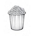 outline bucket full popcorn vector image