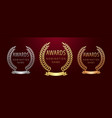 palm awards leaves empty circle vector image vector image