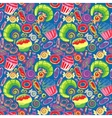 Pastry hand drawn seamless pattern Doodle vector image