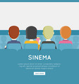 people in cinema hall vector image