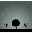 Rain Umbrella and Tree vector image