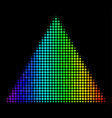 rainbow colored dot filled triangle icon vector image