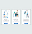 research laboratory mobile webpage templates set vector image vector image