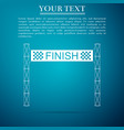 ribbon in finishing line icon on blue background vector image vector image