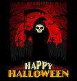 scary halloween background red vector image vector image