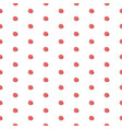 seamless pattern with small red berries on white vector image