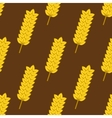 Seamless yellow ripe wheat spikes pattern vector image vector image