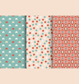 set seamless colorful patterns - xmas vector image