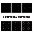 Set seamless pattern Football ball vector image vector image