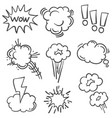 speech bubble hand draw of doodle style vector image vector image