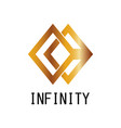 square infinity logo vector image vector image