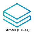 stratis strat crypto coin vector image vector image