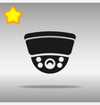surveillance camera black icon button logo symbol vector image vector image