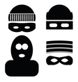thief icons vector image