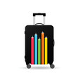 travel bag with airplane on it vector image vector image