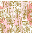 unusual orchid flowers seamless pattern vector image vector image