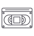 video cassete line icon sign vector image vector image