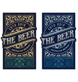 vintage beer label for packing vector image vector image
