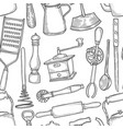 vintage chef tools pattern vector image