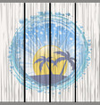 water bubble border with evening tropical sky on vector image vector image
