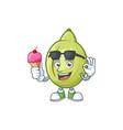with ice cream raw gubinge cartoon for design vector image vector image