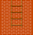 wooden rope ladder in brown design vector image vector image