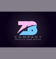 zb alphabet letter join joined letter logo design vector image vector image