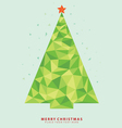 Abstract Christmas tree from crystal graph vector image