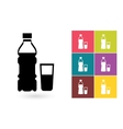 Bottle of water icon vector image