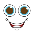 monster face isolated icon design vector image