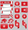 Hong Kong flags vector image