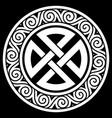 ancient round celtic scandinavian design celtic vector image